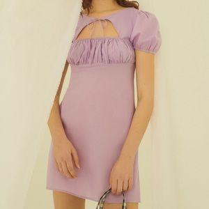 Urban Outfitters Winnie Purple Cotton Mini Dress